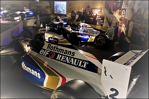 Richard with the Rothmans Williams car collection