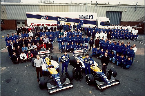 The Williams Team 1993 Photo