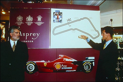 Richard with Michael Schumacher